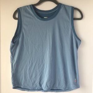 Lucy | Blue Crew Neck Active Wear Tank Top, L